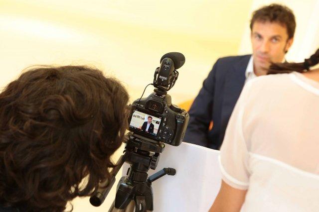Alessandro Del Piero per AIRC - set photo/video 26 agosto 2013 presso ADPLog Torino. Produzione SportWide Ag