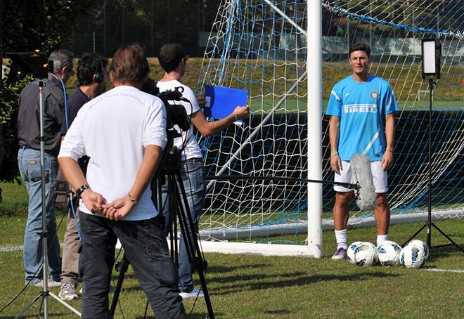 Backstage dello spot realizzato da SportWide per AIRC - Un Gol per la Ricerca 2011