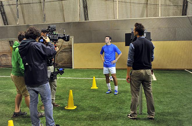 Backstage dello spot realizzato da SportWide per AIRC - Un Gol per la Ricerca 2013