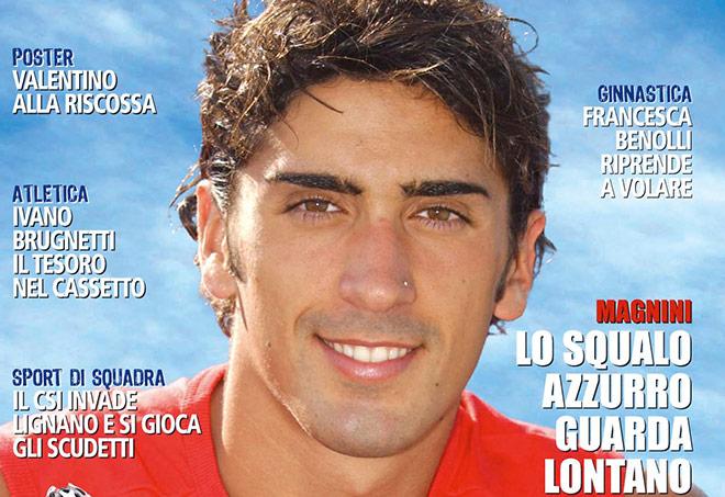Filippo Magnini sulla copertina di Stadium